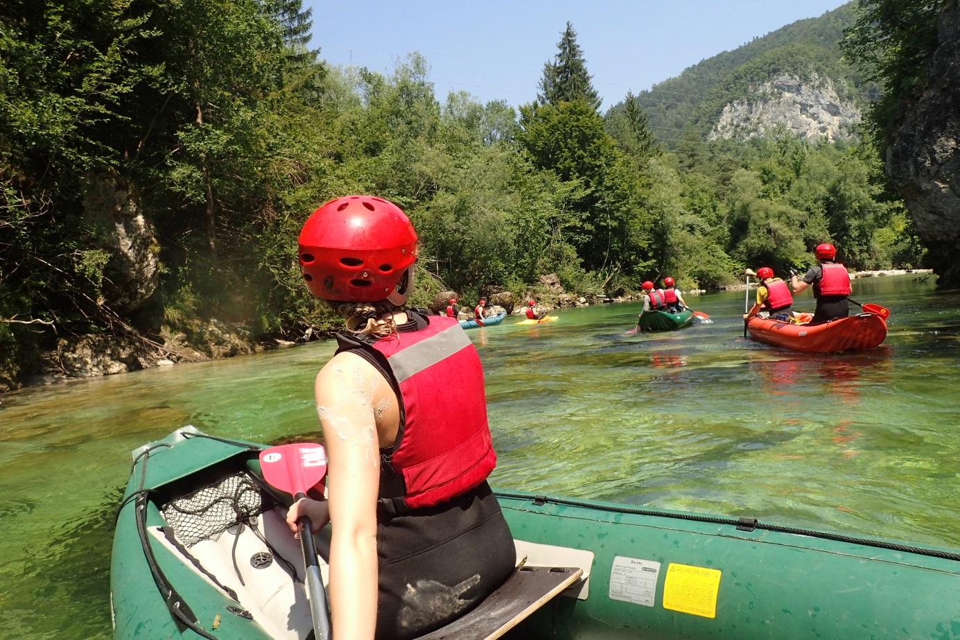 Vodácké dobrodružství na slovinských řekách