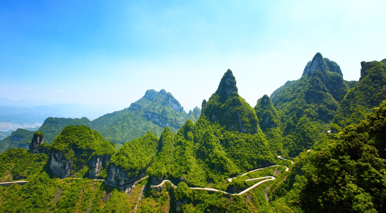 Levitující hory Tianzi v národním parku Zhangjiajie